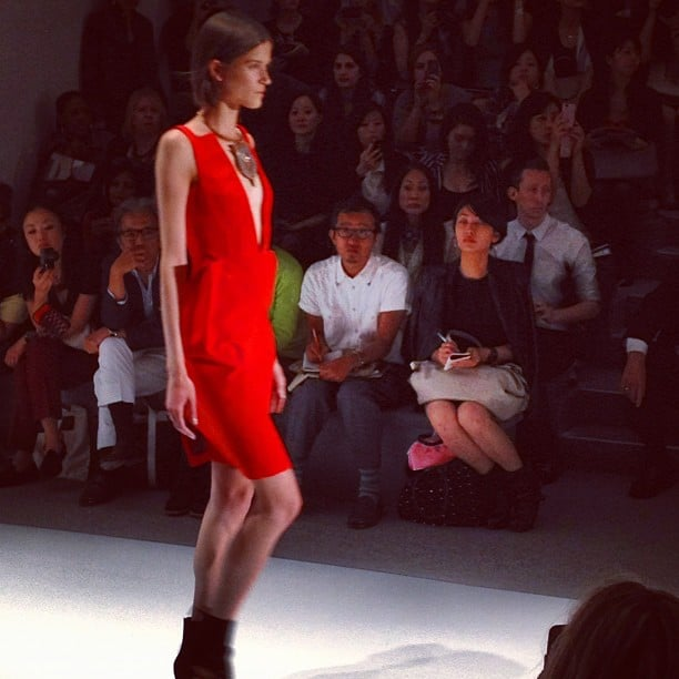 This little red dress with a major cutout in the front may become our next go-to wardrobe staple.