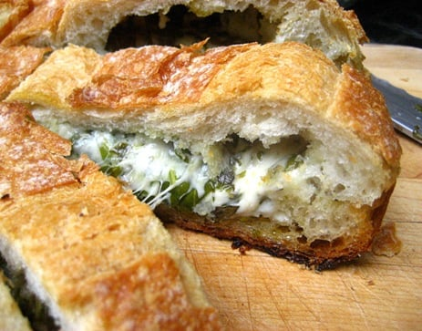 Stuffed Cheese Bread With Herbs