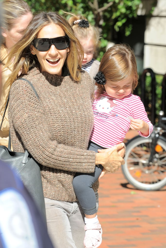 SJP was all smiles holding onto Tabitha.