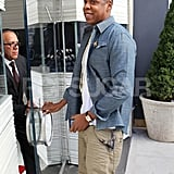 Jay-Z shopped at Jacob & Co. in NYC.