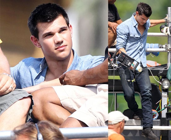 Pictures of Taylor Lautner Filming Abduction