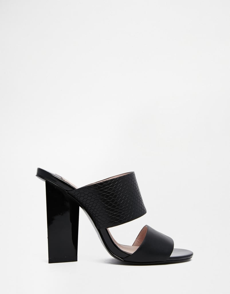 c503432110 Faith Dwight Black Mule Heeled Sandals, $77 | Where to Buy Mules For ...