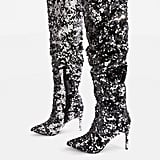 Topshop Bejeweled Knee-High Sequin Boots
