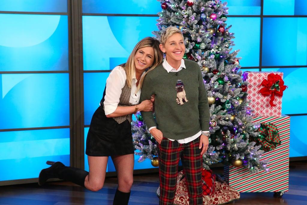 Jennifer Aniston's Houndstooth Vest November 2016