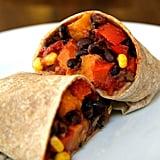Dinner: Vegan Sweet Potato Black Bean Burrito