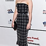 Emilia Clarke made an entrance at the Actors Fund's annual gala in an embellished Christian Dior strapless dress.