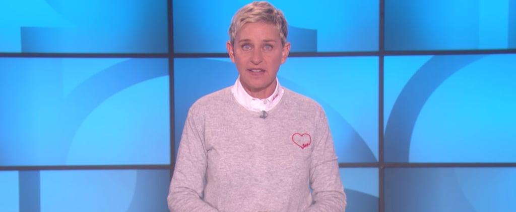 Ellen DeGeneres Message About Las Vegas Shooting