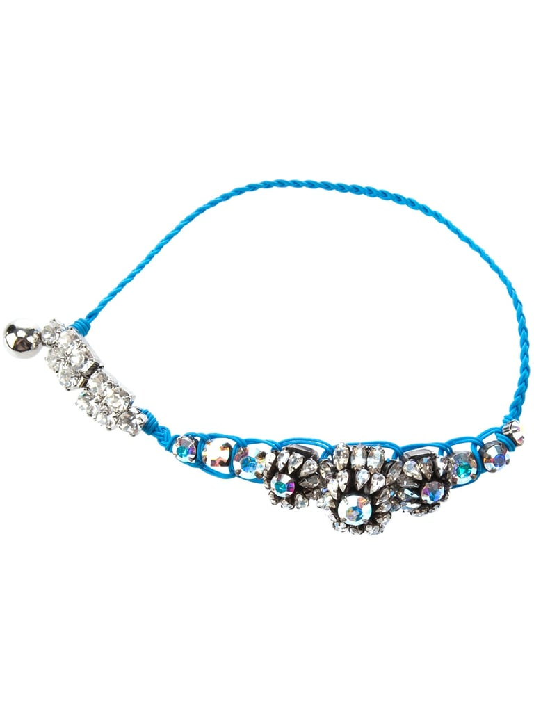 Let her take home something new and blue to remember you by. We love the fun, glamorous feel of this Shourouk bracelet ($311).