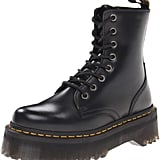 Dr. Martens Unisex Jadon 8-Eye Boot Black Polished Smooth