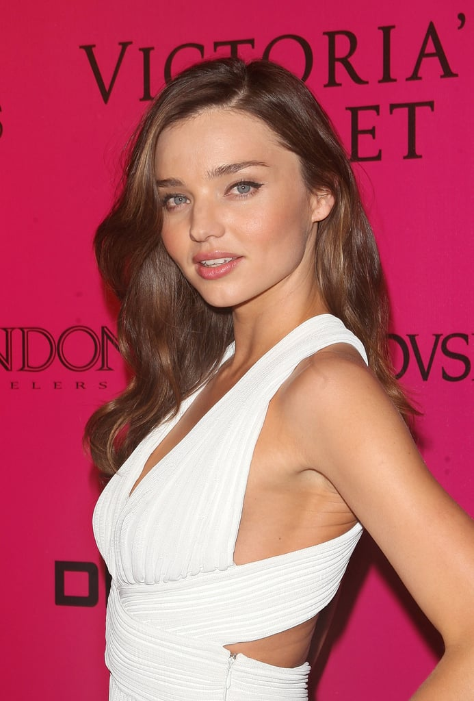 Miranda Kerr smiled at the Victoria's Secret Fashion Show afterparty.
