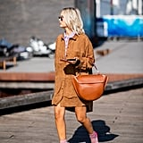 How to Wear Suede: A Dress