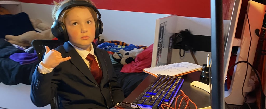 Kid Dresses in Suit For His School Zoom Call | Twitter Photo