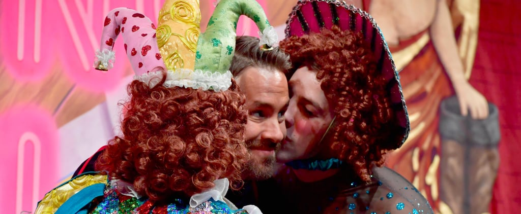 Ryan Reynolds Gets Showered With Kisses From Drag Queens at Harvard University