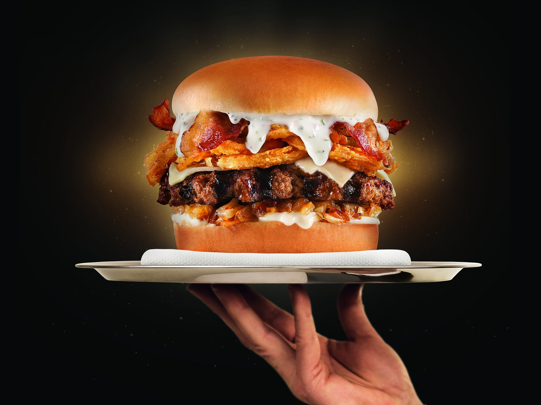 Carl S Jr Bacon Truffle Angus Cheeseburger Carl S Jr S Bacon Truffle Burger Is Like Luxury Fast Food There Are Truffle Fries Too Popsugar Food Photo 4