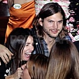 Ashton Kutcher and Lorene Scafaria in Greece.