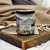 Highland Mist candle ($8) with notes of florals, sandalwood, and rainwater.