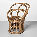 Rattan Chair Shaped Planter