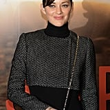 Marion Cotillard smiled at the Paris premiere of Jappeloup.