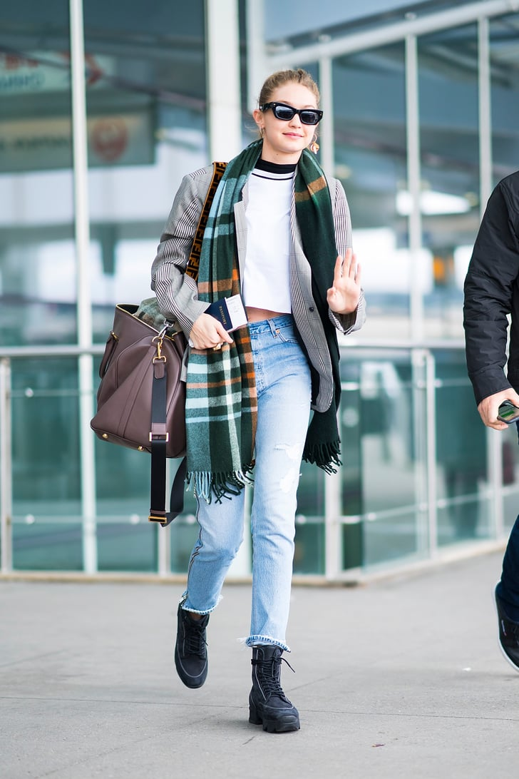 gigi hadid  cute airport outfits  popsugar fashion photo 11