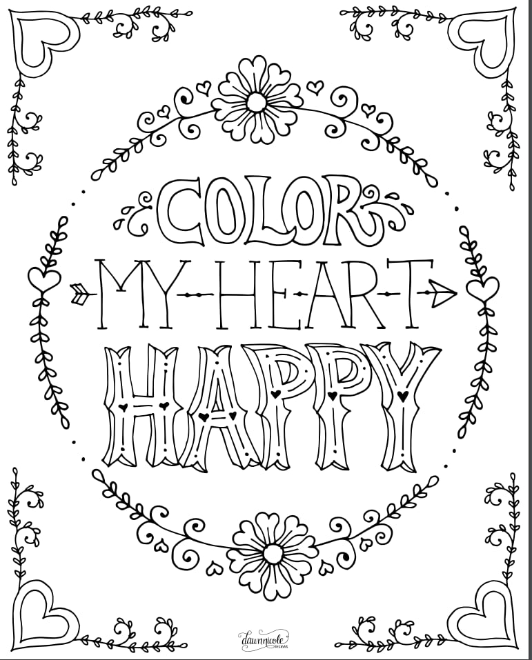 "healthy heart coloring pages | ""Color My Heart Happy"" 