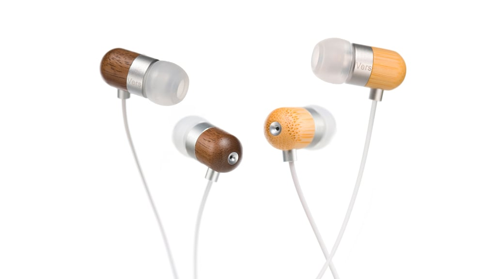 These pretty Vers wooden earbuds ($80) come in bamboo and walnut and are crafted from  sustainable sources to bring a rich and warm sound you can only get from wood. Plus, the integrated mic and playback buttons make it easy to chitchat on the phone, hands-free. Even better, Vers plants 100 trees for every one used in production of its products.