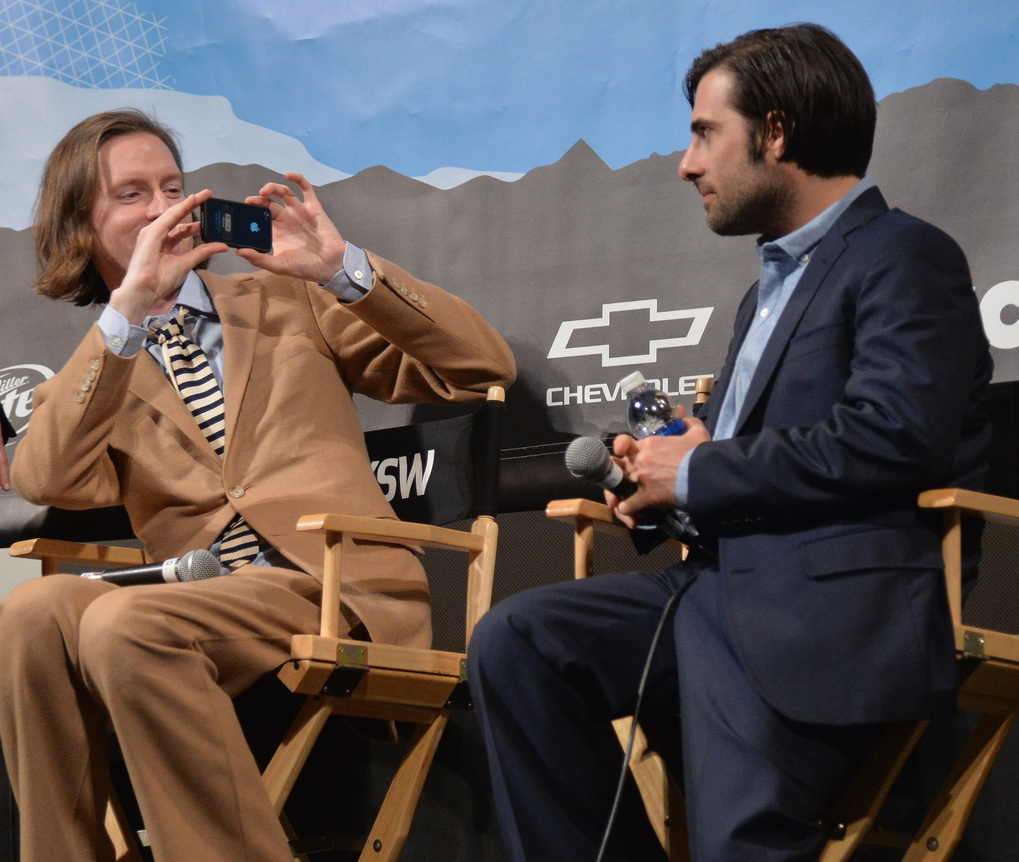 Wes Anderson snapped a photo of Jason Schwartzman on Monday.