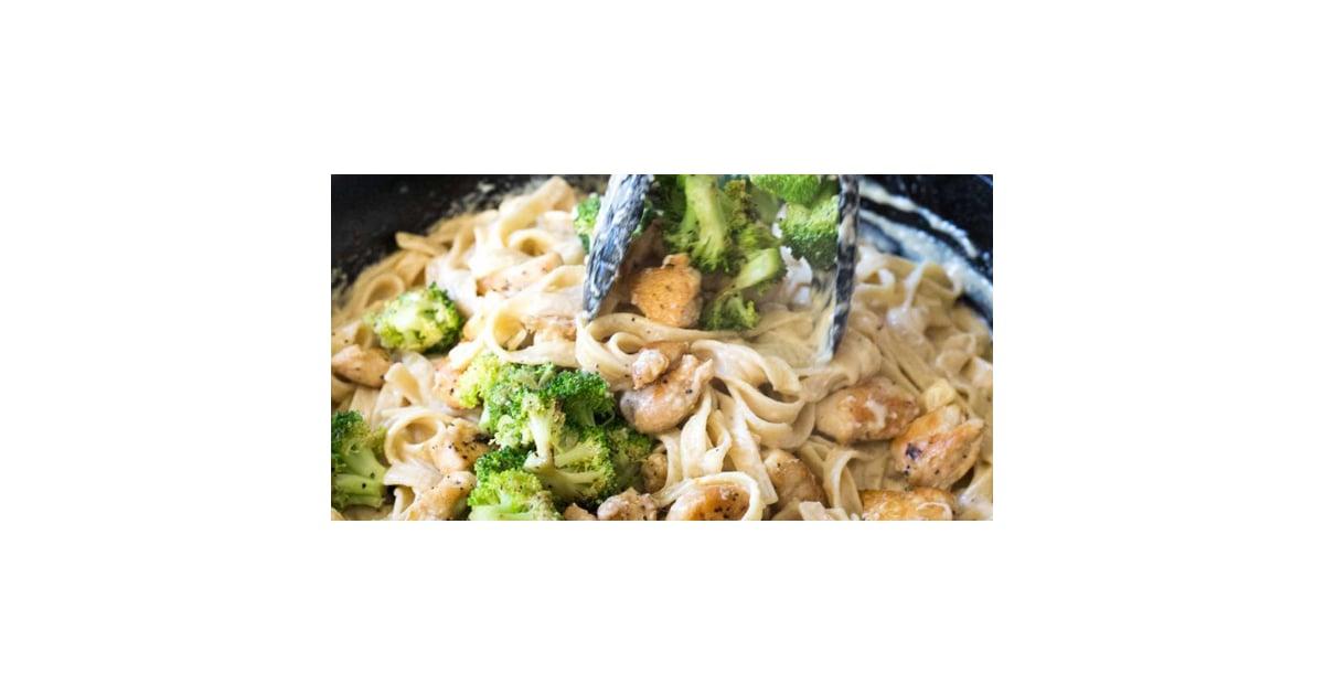 Broccoli Chicken Fettuccine Alfredo Recipe  Popsugar Food-3282