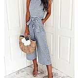 Ru Sweet Striped Jumpsuit