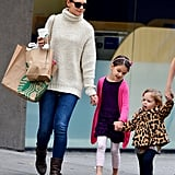 Suri Cruise and Katie Holmes stepped out in NYC.