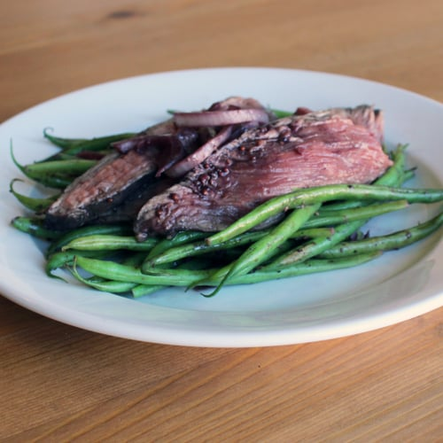 Wine-Poached Steak With Haricots Verts