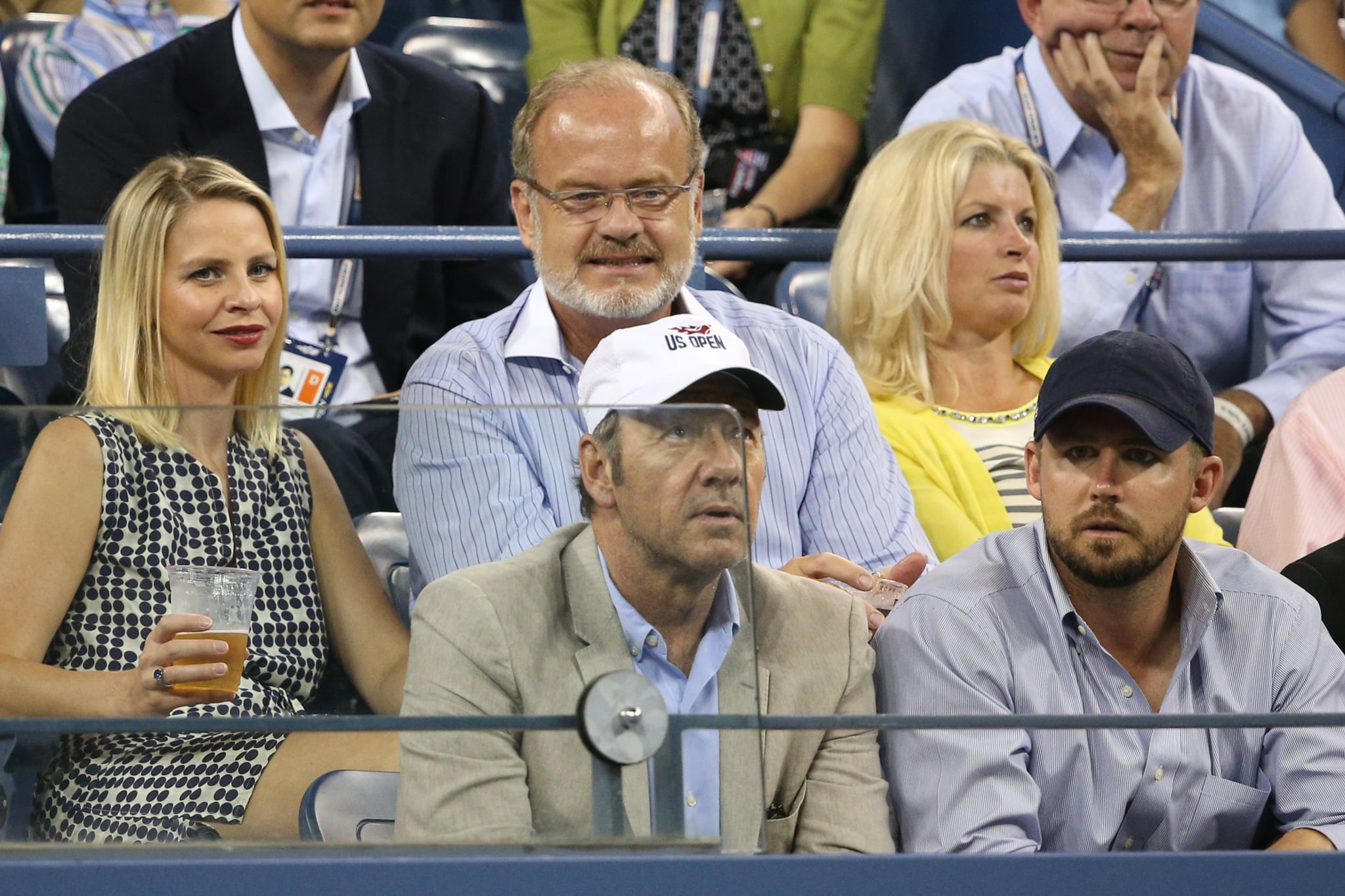 Kelsey Grammer and Kayte Walsh sat near Kevin Spacey at the US Open.