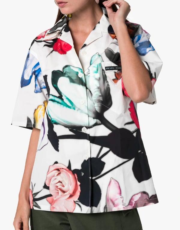 Prada Floral Cotton Shirt