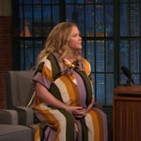 Amy Schumer Wearing Fake Baby Bump on Late Night March 2019