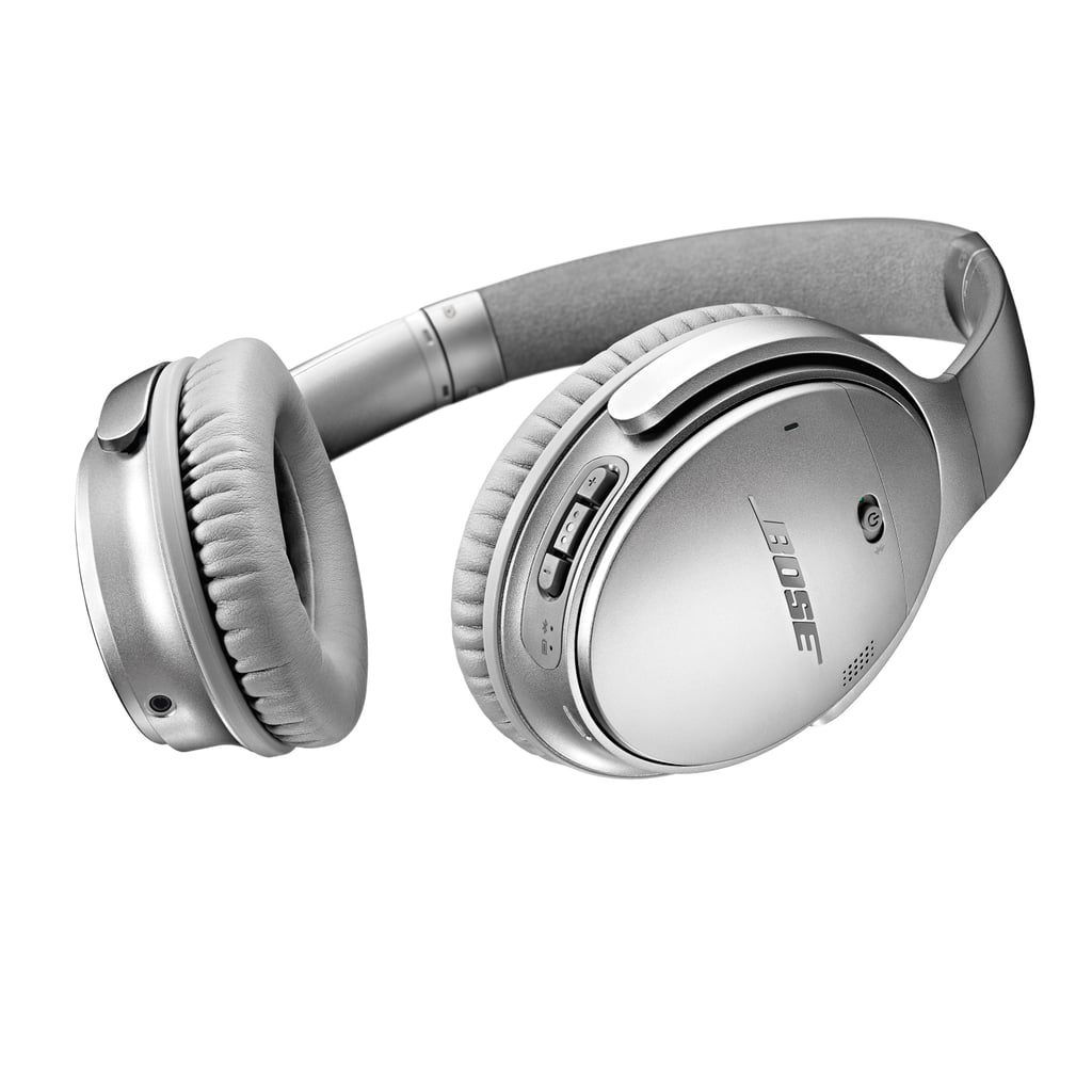 """The headphones: QuietComfort 35 Wireless Headphones ($350) The why: """"These over-ear headphones are super comfortable and lightweight. I listen to music all day at work, and it sounds better on these than any other brand I've tried. Plus, they are wireless, which keeps my desk neat and detangled, and the noise-canceling abilities mean I can block out distractions."""" —  Nancy Einhart, VP and executive editor"""