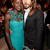 He held on to Lupita Nyong'o at the Weinstein Company's SAG Awards afterparty.