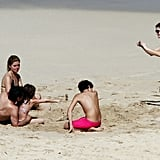 Pictures of Stephanie Seymour on the Beach Wearing a Bikini in St. Barts