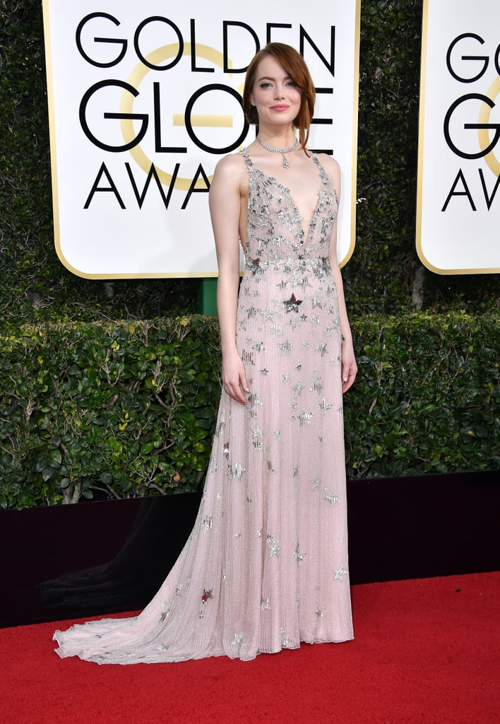 Emma Stone is riding high on the success of her film La La Land, and the latest stop on the award season circuit was the Golden Globes on Sunday. The actress attended the glamorous night with a very special date: her younger brother, Spencer. While she met up with her costar, Ryan Gosling, inside the event, Emma and Spencer shared a few sweet moments while doing interviews on the red carpet. Emma, who took home the award for best actress in a motion picture, also gave Spencer a sweet shout-out in her speech, thanking him for putting up with her for his entire life. This also isn't the first time Emma has brought Spencer as her date for an event. Most recently, they attended the Critics' Choice Awards together in December.      Related:                                                                                                           The Dresses at the Golden Globes Have Fulfilled All Your Expectations