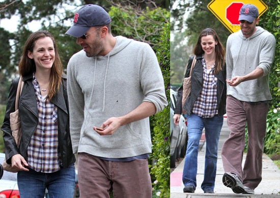 Photos of Ben and Jen being cute in LA