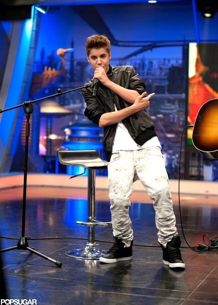 Justin Bieber performed on El Hormiguero.