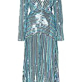 Rixo Emmy Ruched Sequined-Chiffon Midi Dress