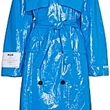 MSGM Oversized PVC Trench Coat