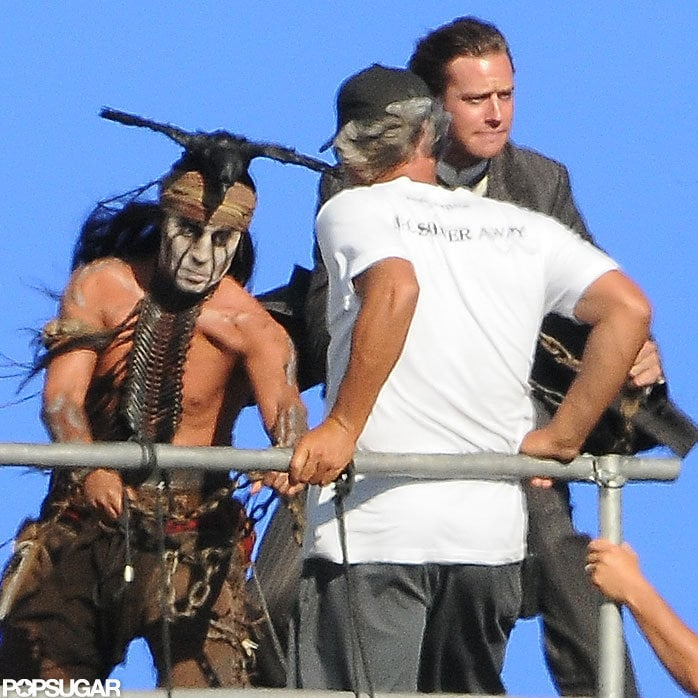 Shirtless Johnny Depp Filmed Lone Ranger With Armie Hammer