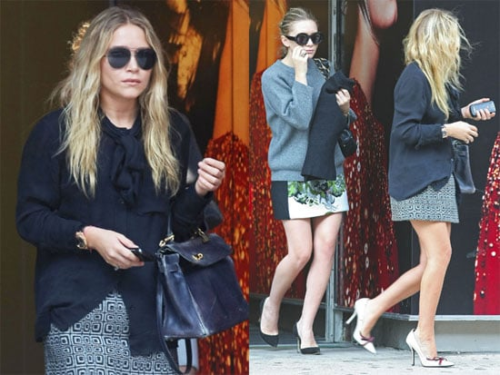 Pictures of Mary-Kate and Ashley Olsen Leaving the Alexander McQueen Store in NYC