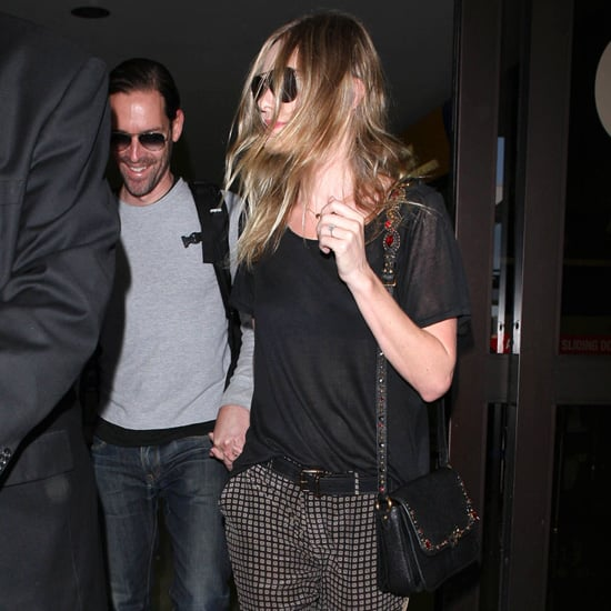 Kate Bosworth Wearing Printed Pants