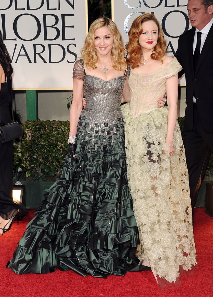 Madonna and Andrea Riseborough both wore long gowns.