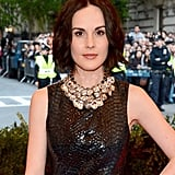 Michelle Dockery had on some bronze lipstick for the punk-themed Met Gala last night.