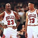 Michael Jordan and Scottie Pippen During the NBA Eastern Conference Finals in 1997