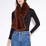 Apparis Luna Chocolat Faux-Fur Scarf