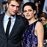 Robert and Kristen are comfortable together on the red carpet.