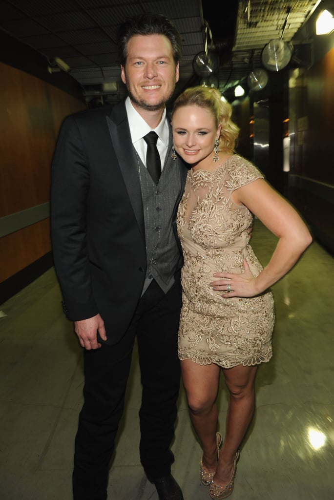 Miranda Lambert and her husband Blake Shelton shared a cute moment.